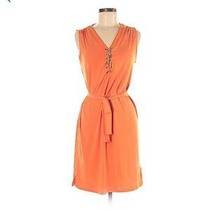 Dresses & Skirts - NWOT Michael Kors V Lace-up Silver Neckline Dress